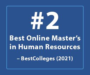Image of Best Online Master's in Human Resources Program at UConn Badge
